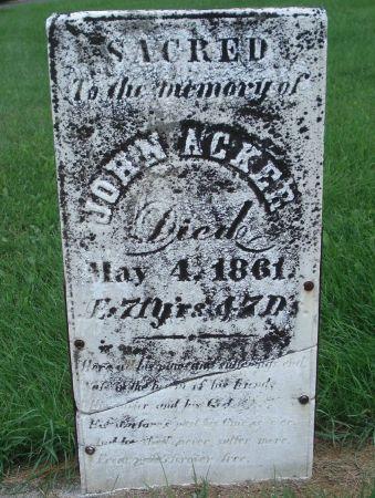 ACKER, JOHN - Dubuque County, Iowa | JOHN ACKER
