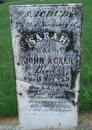 ACKER, SARAH - Dubuque County, Iowa | SARAH ACKER
