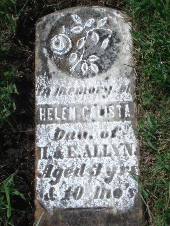 ALLYN, HELEN CALISTA - Dubuque County, Iowa | HELEN CALISTA ALLYN