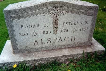 ALSPACH, EDWARD E. - Dubuque County, Iowa   EDWARD E. ALSPACH