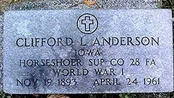 ANDERSON, CLIFFORD L. - Dubuque County, Iowa   CLIFFORD L. ANDERSON