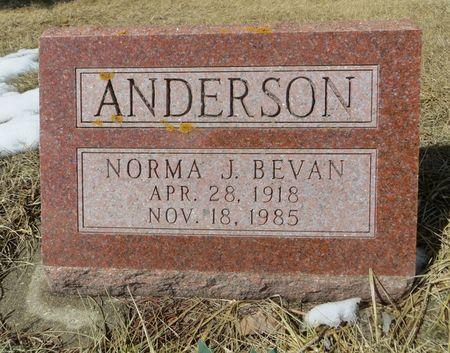 BEVAN ANDERSON, NORMA J. - Dubuque County, Iowa | NORMA J. BEVAN ANDERSON