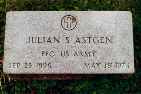 ASTGEN, JULIAN S. - Dubuque County, Iowa | JULIAN S. ASTGEN