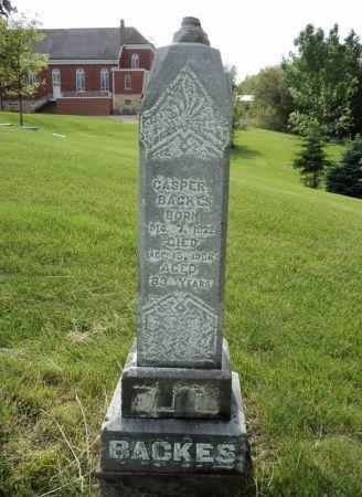 BACKES, CASPER - Dubuque County, Iowa | CASPER BACKES