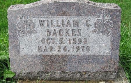 BACKES, WILLIAM C. - Dubuque County, Iowa | WILLIAM C. BACKES
