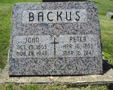 BACKUS, JOHN - Dubuque County, Iowa   JOHN BACKUS
