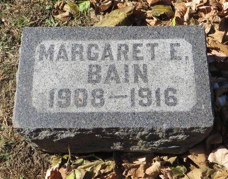 BAIN, MARGARET E. - Dubuque County, Iowa   MARGARET E. BAIN