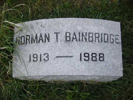 BAINBRIDGE, NORMAN T. - Dubuque County, Iowa | NORMAN T. BAINBRIDGE