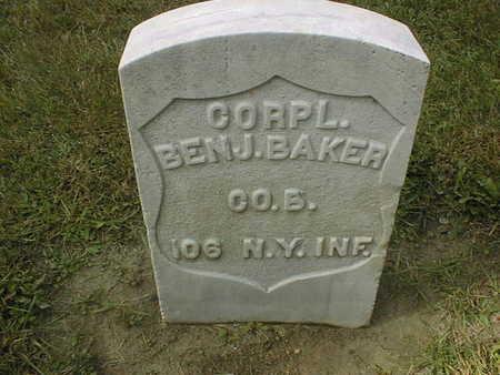 BAKER, BENJ. - Dubuque County, Iowa | BENJ. BAKER