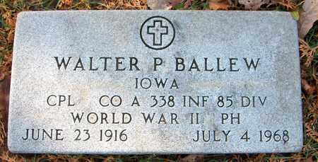 BALLEW, WALTER P. - Dubuque County, Iowa   WALTER P. BALLEW