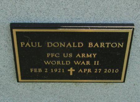 BARTON, PFC PAUL DONALD - Dubuque County, Iowa | PFC PAUL DONALD BARTON
