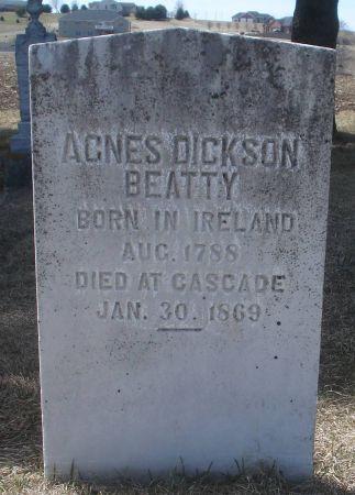 DICKSON BEATTY, AGNES - Dubuque County, Iowa | AGNES DICKSON BEATTY