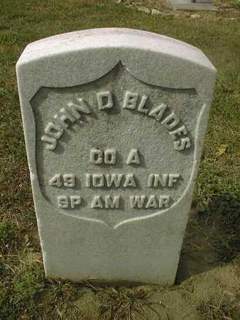 BLADES, JOHN D. - Dubuque County, Iowa | JOHN D. BLADES
