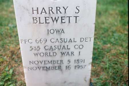 BLEWETT, HARRY S. - Dubuque County, Iowa   HARRY S. BLEWETT
