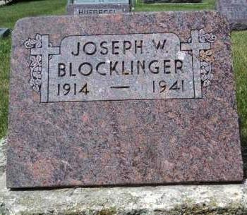 BLOCKLINGER, JOSEPH W. - Dubuque County, Iowa   JOSEPH W. BLOCKLINGER
