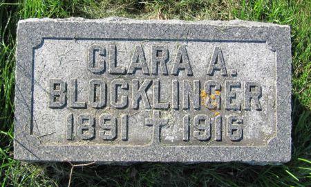 BLOCKLINGER, CLARA A. - Dubuque County, Iowa | CLARA A. BLOCKLINGER