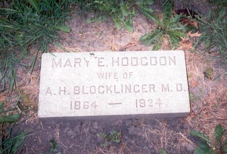 HODGDON BLOCKLINGER, MARY E. - Dubuque County, Iowa | MARY E. HODGDON BLOCKLINGER