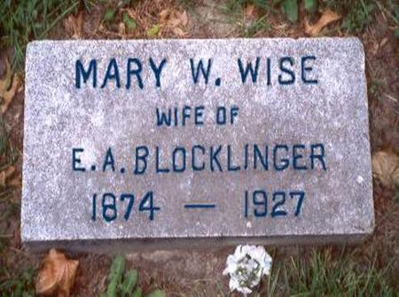 WISE BLOCKLINGER, MARY W. - Dubuque County, Iowa | MARY W. WISE BLOCKLINGER