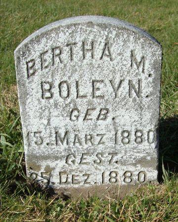 BOLEYN, BERTHA M. - Dubuque County, Iowa | BERTHA M. BOLEYN
