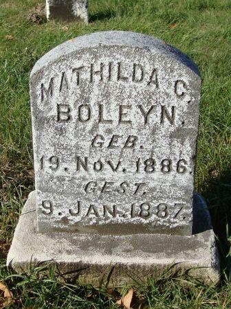 BOLEYN, MATHILDA C. - Dubuque County, Iowa   MATHILDA C. BOLEYN