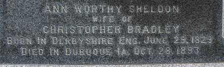 BRADLEY, ANN WORTHY - Dubuque County, Iowa | ANN WORTHY BRADLEY