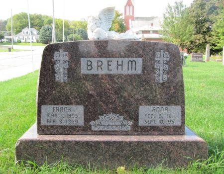 BREHM, ANNA - Dubuque County, Iowa | ANNA BREHM