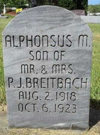 BREITBACH, ALPHONSUS M. - Dubuque County, Iowa | ALPHONSUS M. BREITBACH