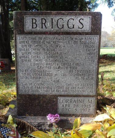 BRIGGS, LORRAINE M. - Dubuque County, Iowa   LORRAINE M. BRIGGS