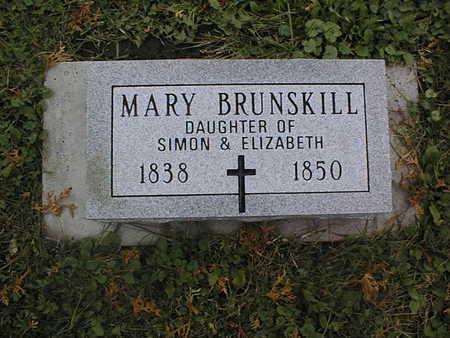 BRUNSKILL, MARY - Dubuque County, Iowa | MARY BRUNSKILL