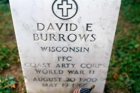BURROWS, DAVID E. - Dubuque County, Iowa | DAVID E. BURROWS