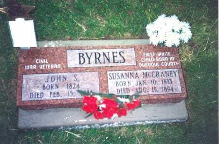 MCCRANEY BYRNES, SUSANNA - Dubuque County, Iowa | SUSANNA MCCRANEY BYRNES