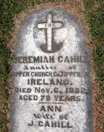 CAHILL, JEREMIAH - Dubuque County, Iowa | JEREMIAH CAHILL