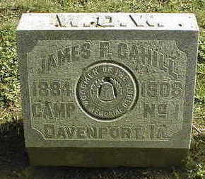 CAHILL, JAMES F. - Dubuque County, Iowa   JAMES F. CAHILL
