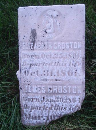 CROSTON, ELIZABETH - Dubuque County, Iowa | ELIZABETH CROSTON