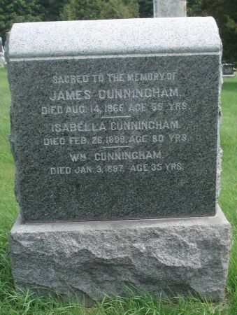 CUNNINGHAM., WILLIAM - Dubuque County, Iowa | WILLIAM CUNNINGHAM.