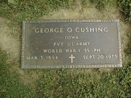 CUSHING, GEORGE O. - Dubuque County, Iowa | GEORGE O. CUSHING