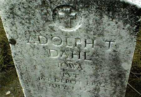 DAHL, ADOLPH T. - Dubuque County, Iowa   ADOLPH T. DAHL