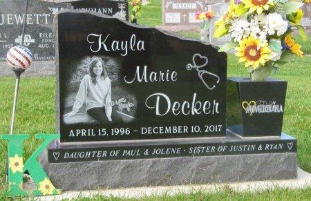 DECKER, KAYLA MARIE - Dubuque County, Iowa | KAYLA MARIE DECKER