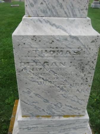 DEEGAN, THOMAS - Dubuque County, Iowa   THOMAS DEEGAN