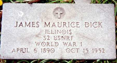 DICK, JAMES MAURICE - Dubuque County, Iowa | JAMES MAURICE DICK