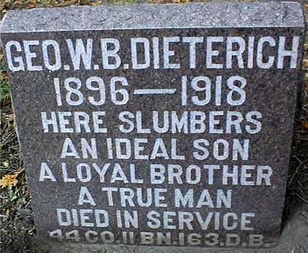 DIETERICH, GEO. W. B. - Dubuque County, Iowa   GEO. W. B. DIETERICH