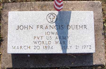 DUEHR, JOHN FRANCIS - Dubuque County, Iowa | JOHN FRANCIS DUEHR