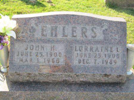 EHLERS, JOHN H. - Dubuque County, Iowa   JOHN H. EHLERS