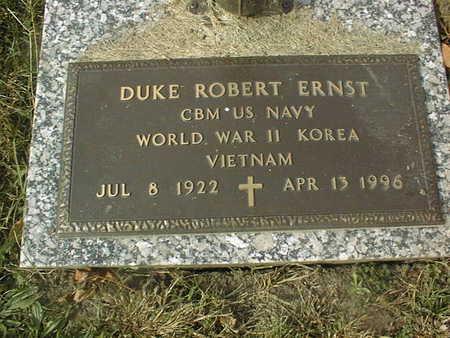 ERNST, DUKE ROBERT - Dubuque County, Iowa   DUKE ROBERT ERNST