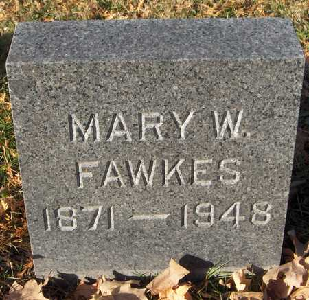 FAWKES, MARY W. - Dubuque County, Iowa | MARY W. FAWKES