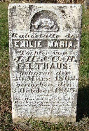 FELTHAUS, EMILE MARIA - Dubuque County, Iowa   EMILE MARIA FELTHAUS