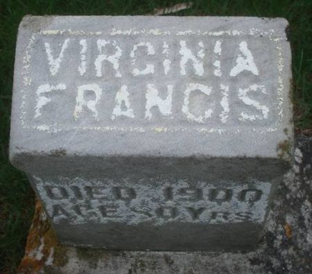 FRANCIS, VIRGINIA - Dubuque County, Iowa | VIRGINIA FRANCIS