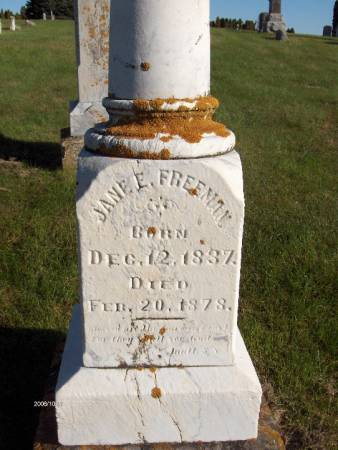 FREEMAN, JANE E. - Dubuque County, Iowa   JANE E. FREEMAN