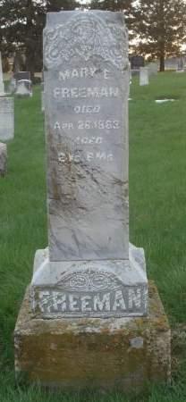 FREEMAN, MARY E. - Dubuque County, Iowa | MARY E. FREEMAN