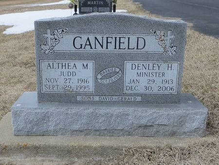 JUDD GANFIELD, ALTHEA M. - Dubuque County, Iowa | ALTHEA M. JUDD GANFIELD